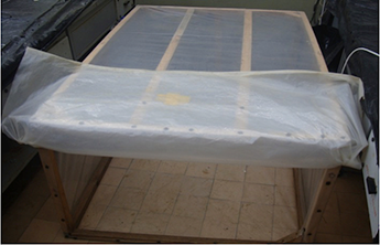 Fig. 12. Incubation/dew chamber in the incubation room.